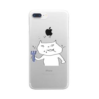 ネコさん Clear smartphone cases