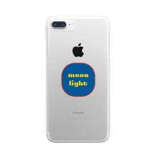 モダン ムーンライト Clear smartphone cases