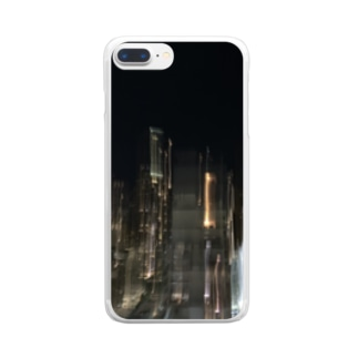 dadada555のラリったハワイの夜景 Clear smartphone cases