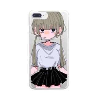 桜井すう@有償依頼受付中ですのヤニカス少女 Clear smartphone cases