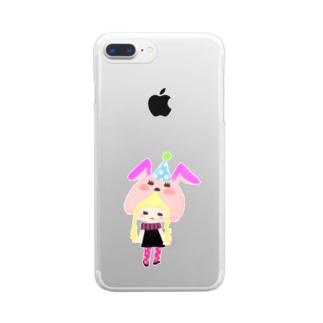 ゆめみちゃん Clear smartphone cases