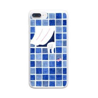窓辺のねこちゃん Clear smartphone cases