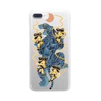 虎伝説 Clear smartphone cases