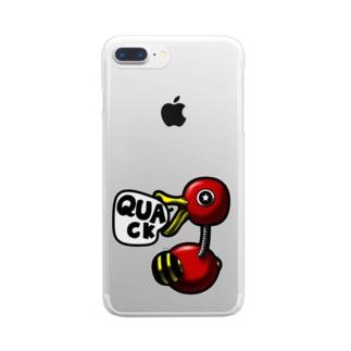 あひる Clear smartphone cases