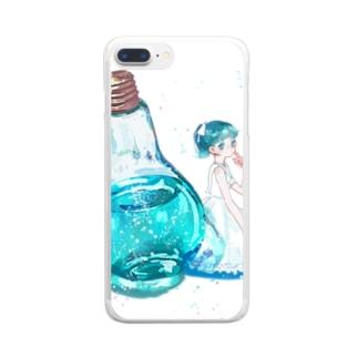 しゅわりきらり Clear smartphone cases