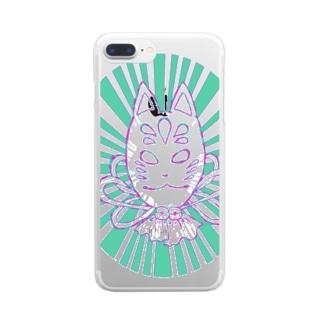 KITSUNE! Clear smartphone cases