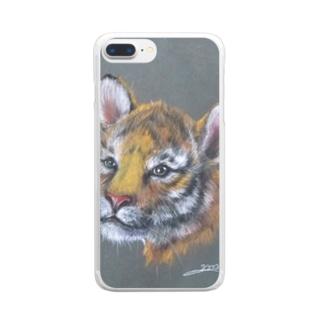 虎の仔2020 Clear smartphone cases