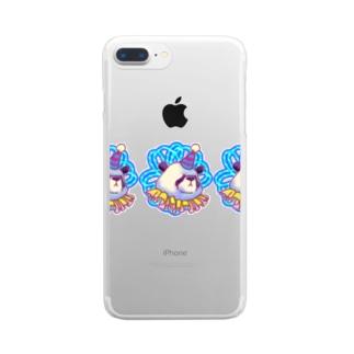 善悪両成敗パンダちゃん Clear smartphone cases