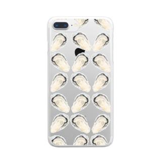 牡蠣大好き倶楽部〜集合体〜 Clear smartphone cases