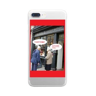 i want fudge! Clear smartphone cases