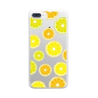 オレンジ&レモン&ライム  Clear smartphone cases