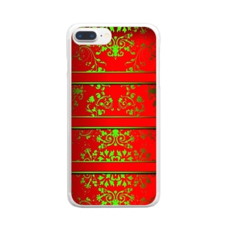 Ethnic Red Clear smartphone cases