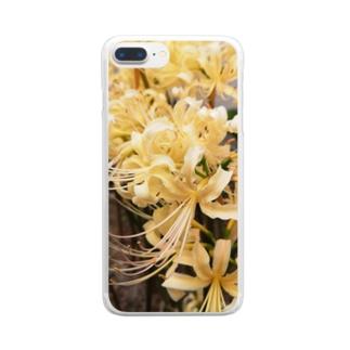 白い曼珠沙華 Clear smartphone cases
