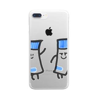 のりがノリノリちゃん Clear smartphone cases
