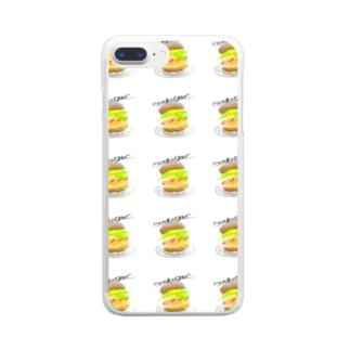 めちゃくちゃ伝わるハンバーガー Clear smartphone cases