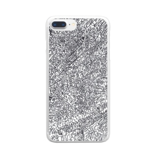 TESTALCアートスマホケース.うずまきのね Clear smartphone cases
