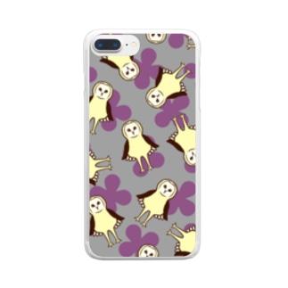 メンフクロウ Clear smartphone cases