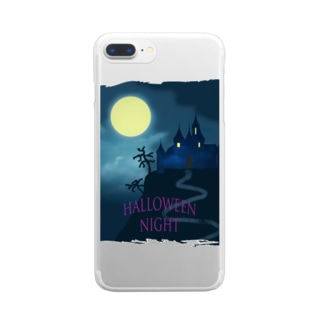 Halloween night Clear smartphone cases