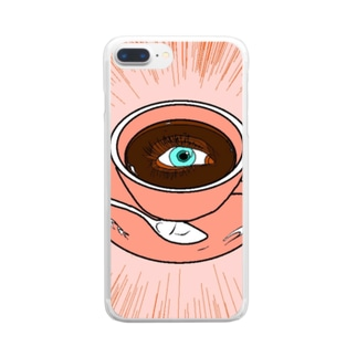 コーヒーに目がない方へ Clear smartphone cases
