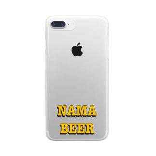 生ビール Clear smartphone cases