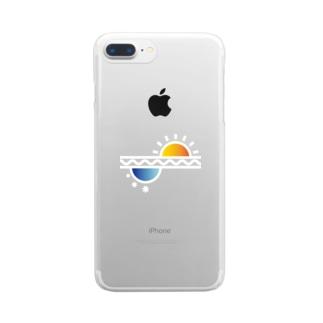 El Sol y La Luna/太陽と月 Clear smartphone cases