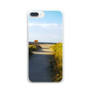 海へと続く道 Clear smartphone cases