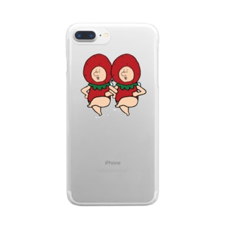 いちごの妖精さん Clear smartphone cases