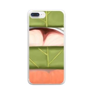柿の葉寿司 Clear smartphone cases