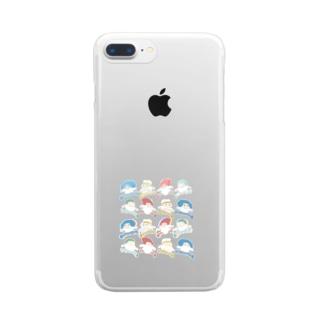【まどろみちゃんコラボ】 Clear smartphone cases