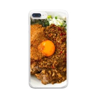 名もなきハムスターの台湾まぜそば Clear smartphone cases