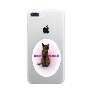 にゃんこのぶ~ちゃん Clear smartphone cases