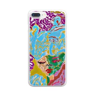 loveandPeace -JIU- Clear smartphone cases