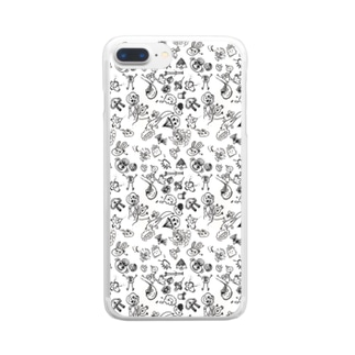 Atelier Glück ゆかいな仲間たちbyぶちょう Clear smartphone cases