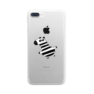馬刺し Clear smartphone cases