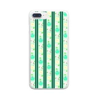 ちょっとロリータ系青りんご柄 Clear smartphone cases
