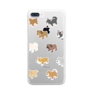 イッヌいっぱい天国 Clear smartphone cases