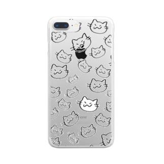 にのさんいっぱい Clear smartphone cases