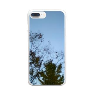 どっかの空 Clear smartphone cases