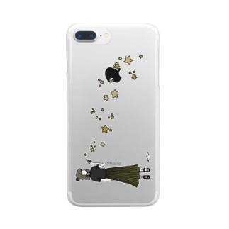 星に願いを。 Clear smartphone cases
