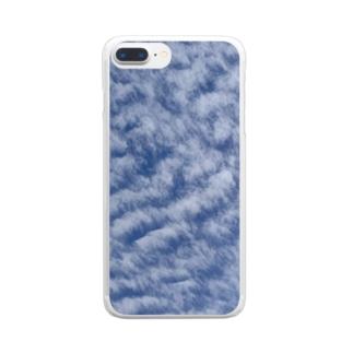 いわし雲photo Clear smartphone cases