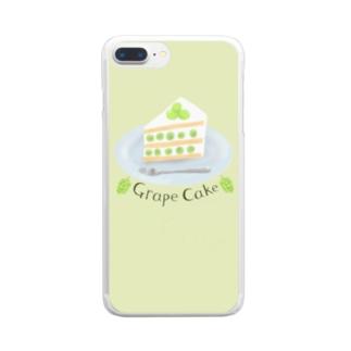 ぶどうケーキ(緑)を食べよう Clear smartphone cases