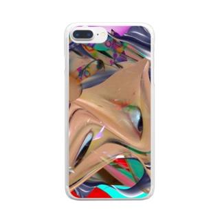圧縮変顔 Clear smartphone cases