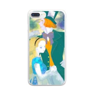 アリスとハッター Clear smartphone cases