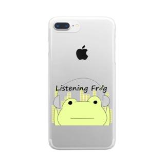 原知也、略してHaTo@作曲家のListening Frog Clear smartphone cases