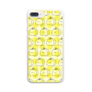 りんごリンパターン Y Clear smartphone cases
