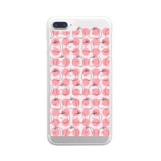 りんごリンパターン P Clear smartphone cases