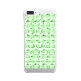 りんごリンパターン G Clear smartphone cases