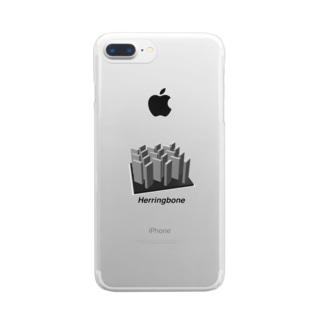 Herringbone Clear smartphone cases