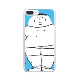 mushi-mushi-sakの太っちょくん Clear smartphone cases