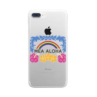 MEA ALOHA・メアアロハ Clear smartphone cases